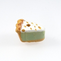 Clay Beads 12 x 8mm key lime pie clay
