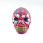 Clay Beads 9 x 12mm day of the dead sugar skull hot pink clay