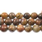 Venus Jasper 10mm round shades of brown and grey