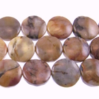 Venus Jasper 12mm coin shades of brown and grey