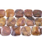 Venus Jasper 12mm square shades of brown and grey