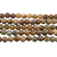 Venus Jasper 4mm round shades of brown and grey