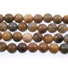 Venus Jasper 6mm round shades of brown and grey