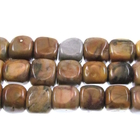 Venus Jasper 7mm cube shades of brown and grey