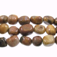 Venus Jasper 8 x 10mm nugget shades of brown and grey