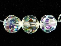 Specialty Beads Vintage German Crystal 8mm faceted round crystal aurore boreale