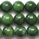 West African Jade 10mm round deep green
