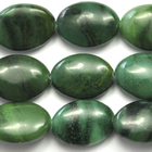 West African Jade 10 x 14mm oval deep green