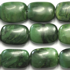 West African Jade 10 x 14mm rectangle deep green