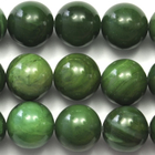West African Jade 12mm round deep green