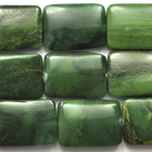 West African Jade 13 x 18mm rectangle deep green