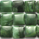 West African Jade 14mm square deep green