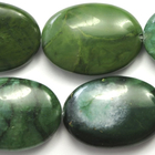 West African Jade 18 x 25mm oval deep green