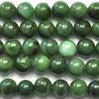 West African Jade 6mm round deep green