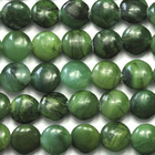 West African Jade 8mm coin deep green