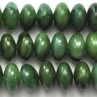 West African Jade 8mm rondell deep green