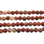 White Lace Red Jasper 4mm round mixed colors