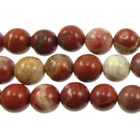 White Lace Red Jasper 8mm round mixed colors