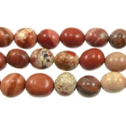 White Lace Red Jasper 8 x 10mm nugget mixed colors