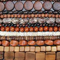 Image Wood Beads