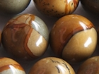 Wildhorse Picture Jasper 12mm round earth tones