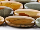Wildhorse Picture Jasper 15 x 30mm oval earth tones
