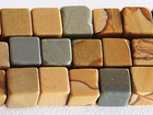 Wildhorse Picture Jasper 6mm cube earth tones