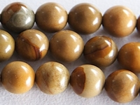 Wildhorse Picture Jasper 6mm round earth tones