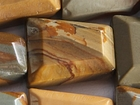 Wildhorse Picture Jasper faceted trapezoid earth tones