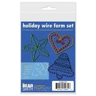 3-3.5 inch star, heart & bell wire form gold