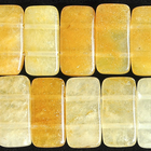 Yellow Jade 10 x 20mm double drill rectangle rich yellow