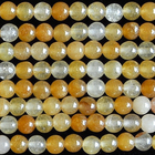 Yellow Jade 4mm round rich yellow